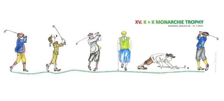 K+K Monarchie Trophy , Skalica, Slovakia 2014, Golf Polo T-shirt designet by www.birdiecountry.com