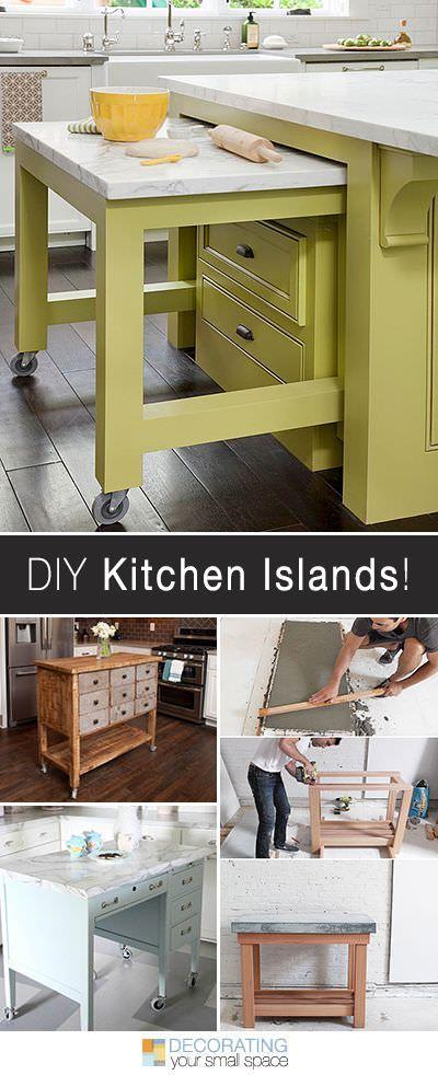 DIY Kitchen Island Ideas  Projects Decorating - kitchen