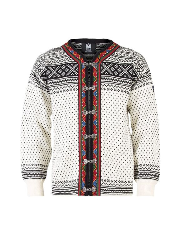 Dale of Norway, Setesdal cardigan, unisex, in Off White/Black, 80381-A, on sale at The Nordic Shop