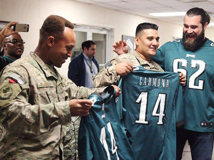 Jason Kelce and Dietz & Watson Surprise Military Families