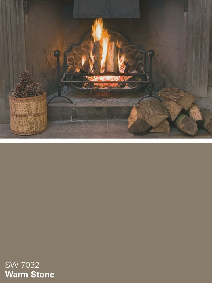 Sherwin-Williams brown paint color – Warm Stone (SW 7032)