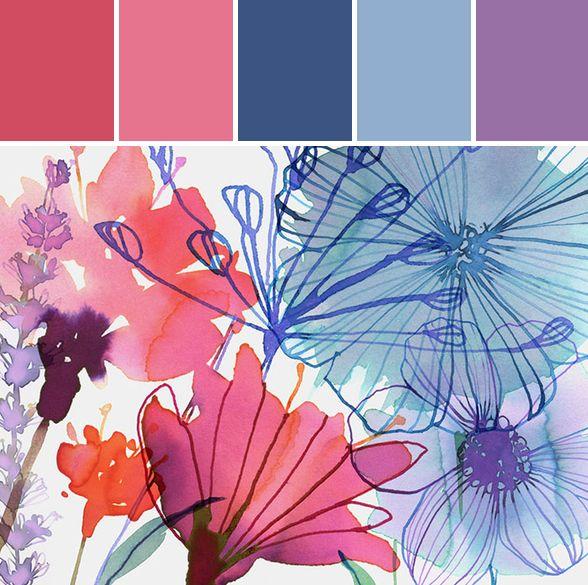 Featured Artist | Margaret Berg Illustrations #florals #color #stylyze