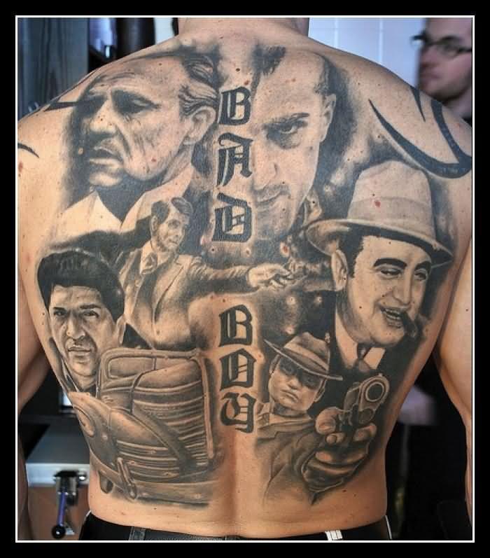 gangster clown tattoo design