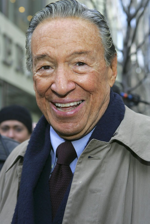 """CBS newsman Mike Wallace, who helped make """"60 Minutes"""" the most successful primetime television news program ever, died at age 93 on April 7, 2012. ©Retna Ltd."""