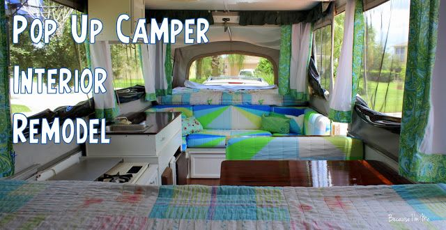 Because I M Me 2004 Jayco 1207 Pop Up Tent Camper Interior Update New Cushion Covers Paint