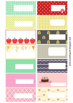 Fancy Free printable pattern tags and labels ausdruckbare Etiketten freebie MeinLilaPark u digital freebies