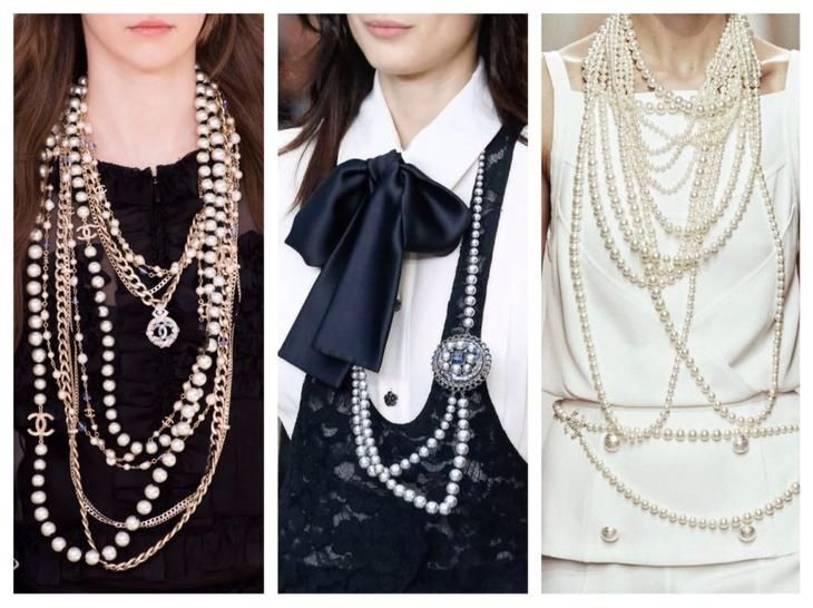 жемчужные ожерелья от Шанель