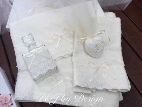 Greek Christening Ladopana towels set Greek by PJbydesign on Etsy
