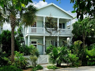 Key West house rental - Bella Petronia; is set on a quiet lane in the Meadows.