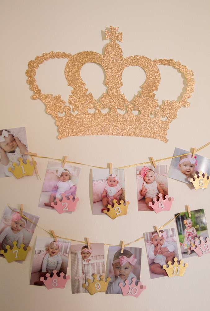 Pink and Gold Birthday Party Ideas   Photo 17 of 30   Catch My Party: