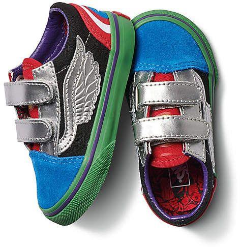 Vans X Marvel Toddler Old Skool V  apparel accessories footwear ... 47fb2111c
