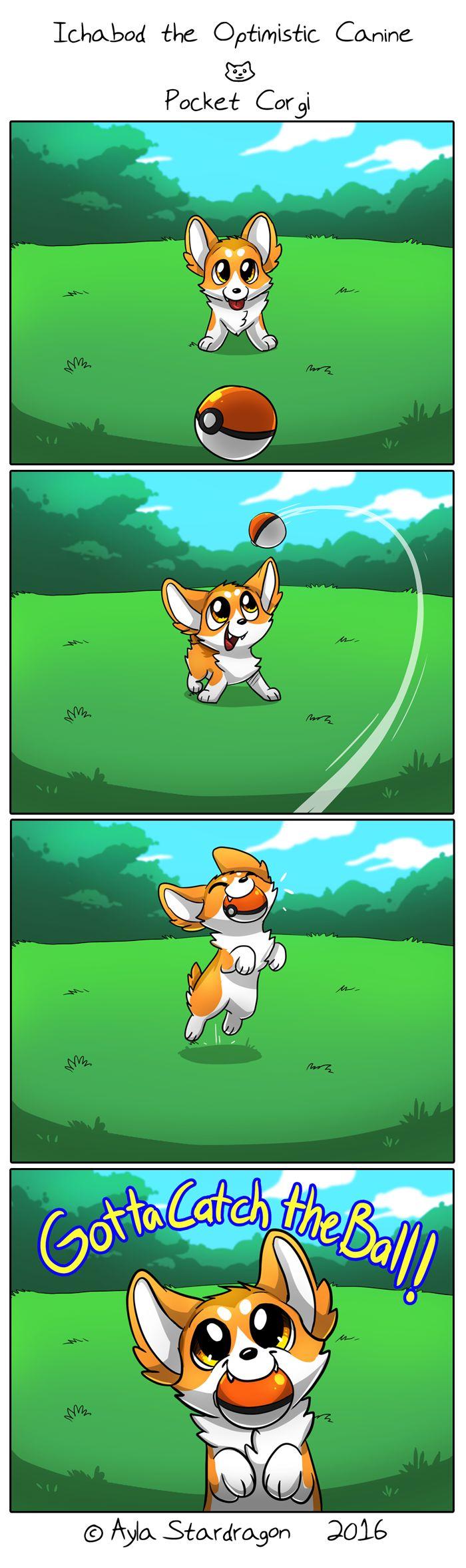 Ichabod the Optimistic Canine :: Pocket Corgi | Tapastic Comics - image 1