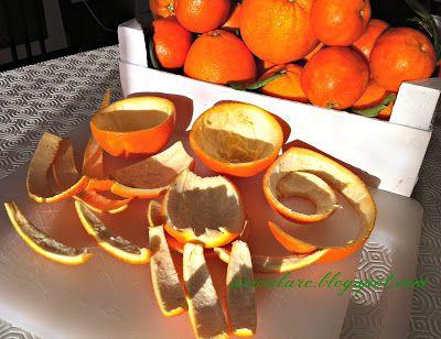 Riciclare...con fantasia: Perle con bucce d'arancia