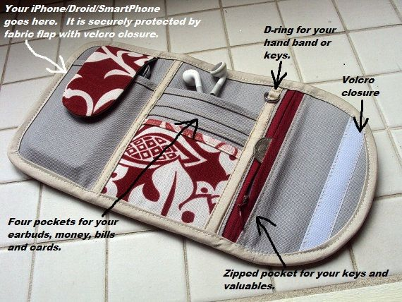 iphone wallet - type 1 - Build your own phone wallet, iphone 4, 5 wirstlet…