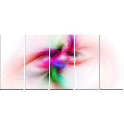 DesignArt 'Colorful Electromagnetic Field' Graphic Art Print Multi-Piece Image on Canvas