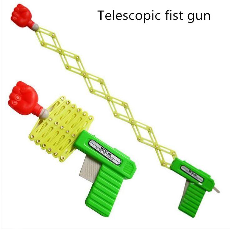 リトラクタブル拳銃シュータートリック玩具銃面白い子子供プラスチックパーティー祭りのギフトのためだけ楽しいクラシック弾性伸縮拳