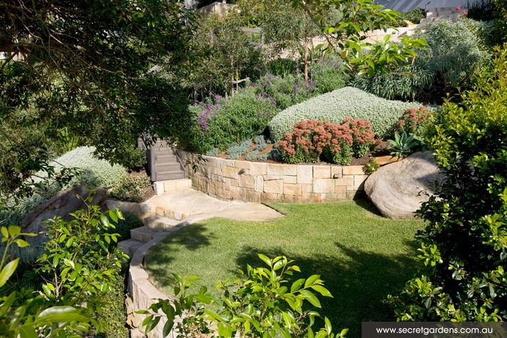 Sandstone steps and paths
