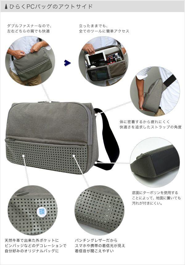 ひらくPCバッグのアウトサイド | ひらくPCバッグ - SUPER CLASSIC