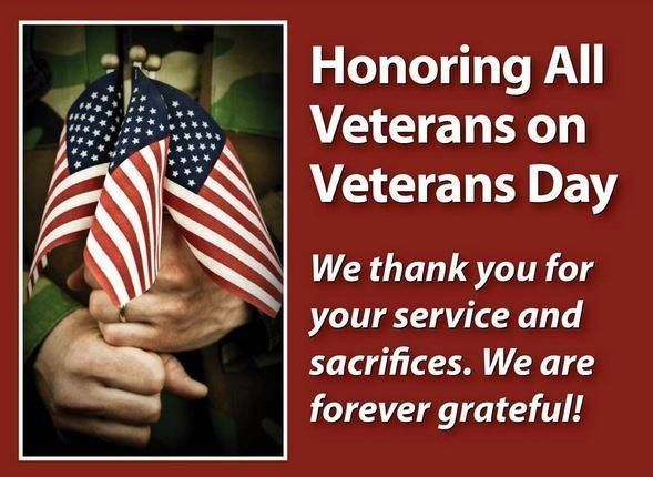 Please Honor All Our Veterans Every Day Happy Veterans Day