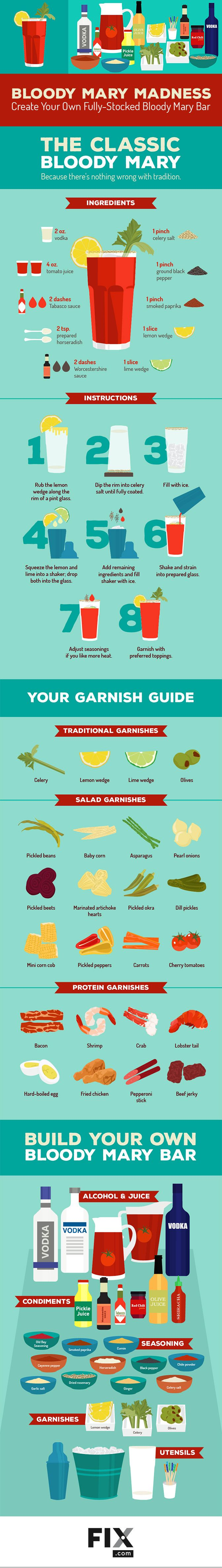 Up your Bloody Mary game with our guide to garnishes, tomato juice, and more!