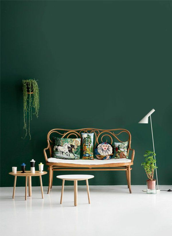Tapete wohnzimmer grün  Die besten 25+ Grüne tapete Ideen auf Pinterest | grüne Wandfarbe ...
