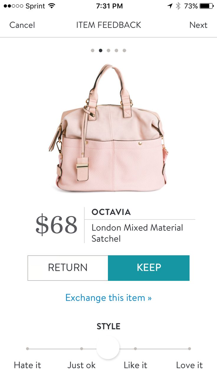 Octavia London Mixed Material Satchel. Soft leather in the perfect blush color. Want a personal stylist? Stitch Fix is the best online service I've used & I know you'll love it too! Try it out: https://www.stitchfix.com/referral/7292404