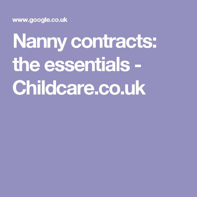 Best  Nanny Contract Ideas On   Daycare Forms
