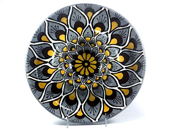 Talavera Style Chip and Dip/Serving Platter