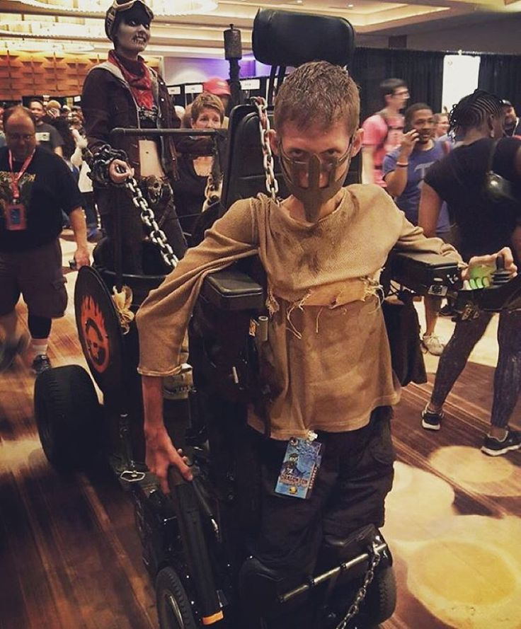 Disabled Student turns his wheelchair into an EPIC Mad Max cosplay!