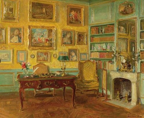 Interior - Walter Gay - A Yellow, late 19th, early 20th century