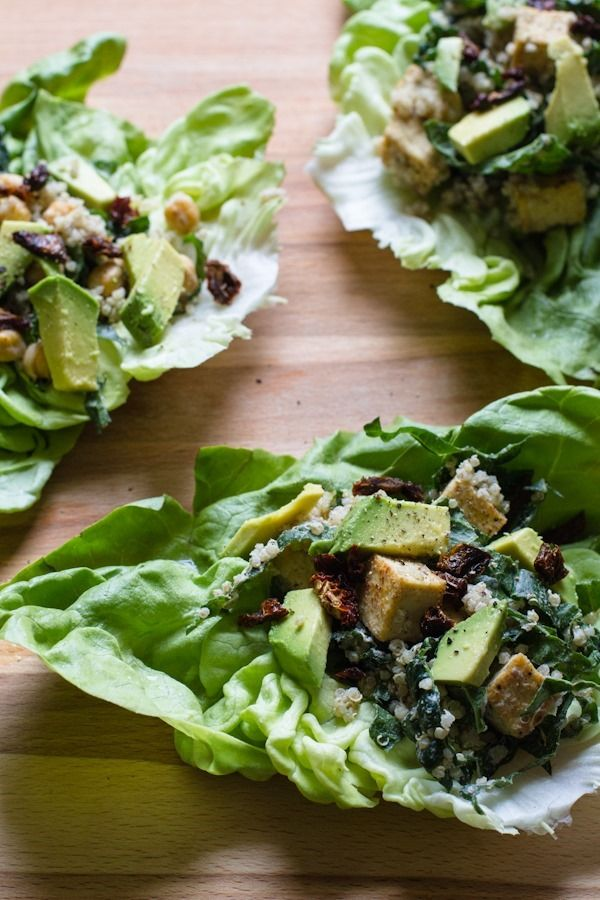 Vegan Caesar Lettuce Wraps // with quinoa, kale, + tofu !  	                 Vegan Caesar Lettuce Wraps // with quinoa, kale, + tofu     Strawberry Spring Salad with Lemon Roasted Chickpeas + Lemon Shallot Dressing     basic buckwheat waffles     10 things worth noting // ed. 6     Roasted Sugar Snap Peas with Sesame Dipping Sauce     Savory Spinach + Roasted Garlic Quick Bread  Vegan
