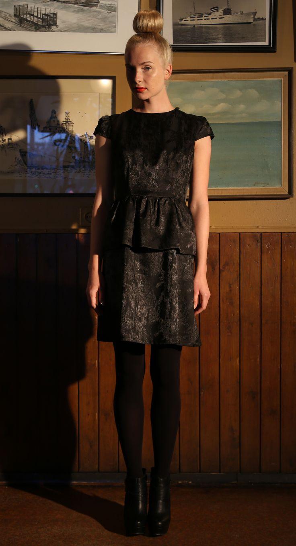 Ivana Helsinki AW13 collection: Emalia black dress  #ivanahelsinki #fashionflashfinland #fashion #fashiondesigner #designer #aw13 #collection #Finland #Helsinki