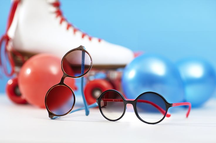 Old school sophistication meets new school pop with cuter than cute round sunglasses from our Light and Shine Collection.