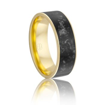 J4294. Black Spectrum Ring from Peter W Beck. Spectrum rings are available in various stunning colours, check out www.pwbeck.com.au to see more.  #PeterWBeck #AustralianMade #Australia #WeddingRing #Wedding #Ring #YellowGold #Gold #Spectrum #Black #BlackRing