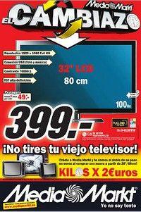 Promo MEDIAMARKT recogida de producto. Descuentan 2€ por cada kg del televisor antiguo