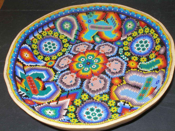Huichol-Beaded Gourd Prayer Bowl