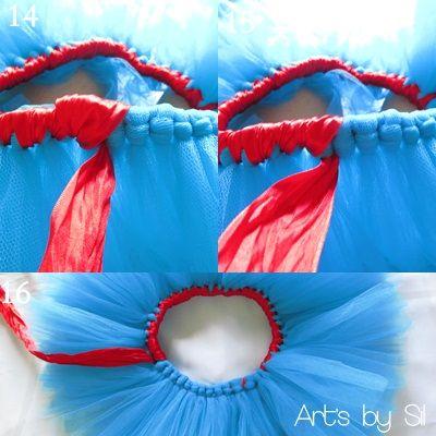 Atendendo a pedidos, fiz um PAP da saia tutu.   MATERIAL   Para fazer a saia tutu (bem volumosa) com 20 cm de comprimento (1 a 2 anos) vo...