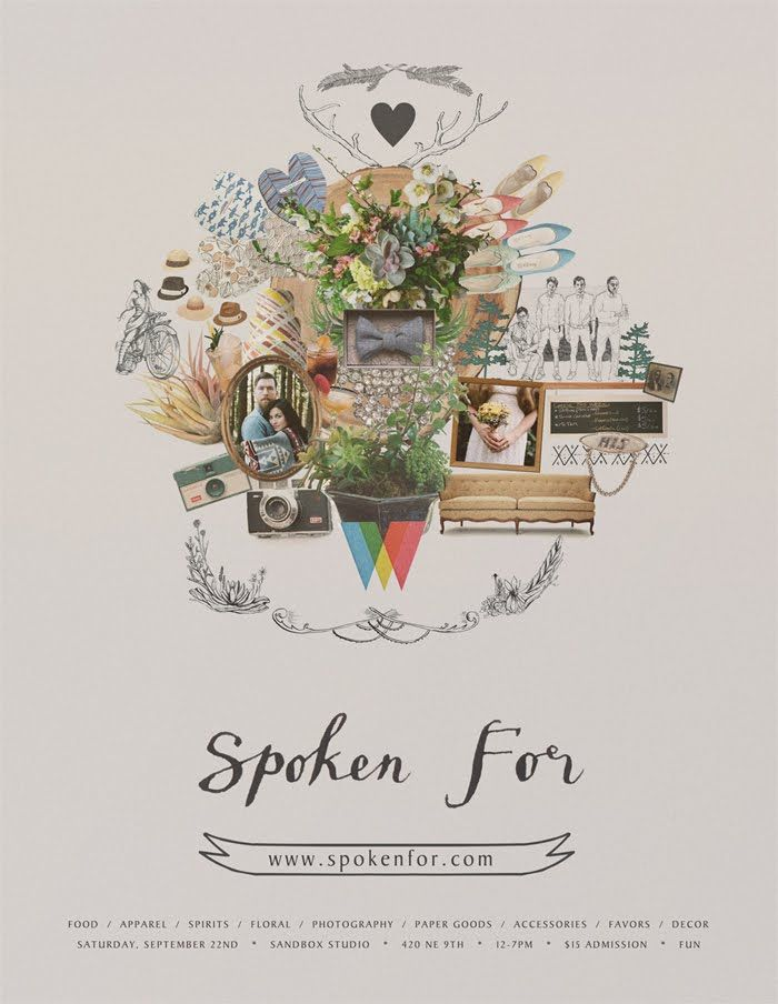 THE WEAVER HOUSE BLOG // Photography, Graphic & Web Design // Hand-made & Vintage Shop: SPOKEN FOR // tomorrow!
