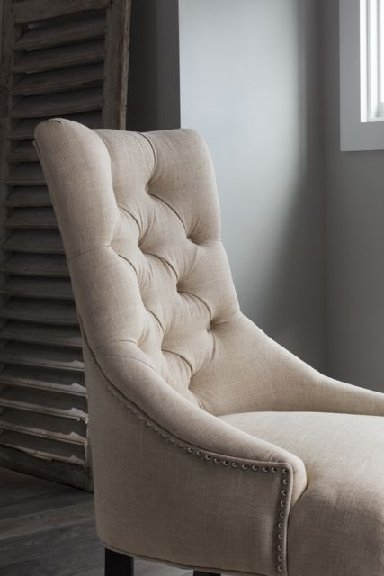 Bring a touch of elegance to your home with an upholstered side chair. Shop online now. #LivingSpaces