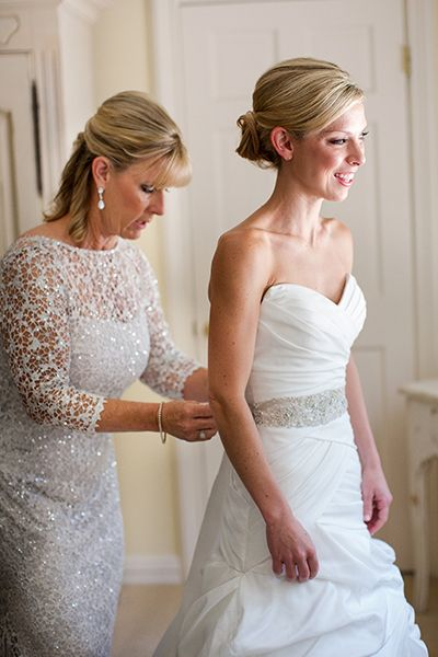 Silver mother of the bride dress by Kay Unger