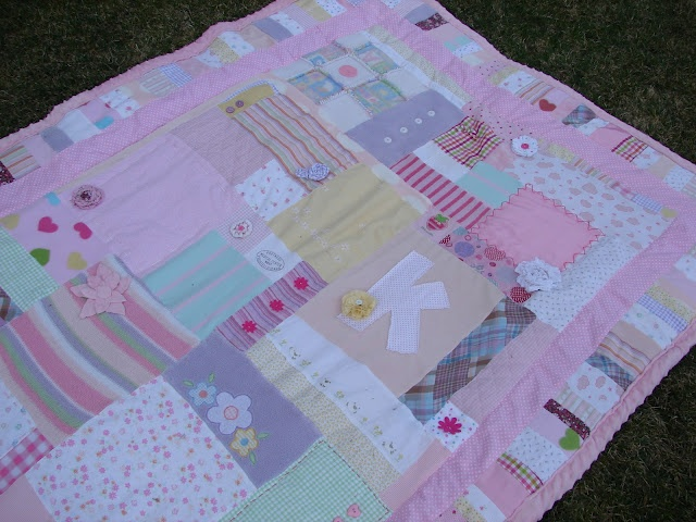 A girl and a glue gun: sentimental and hoarding..(same diff)...aka baby quilt..