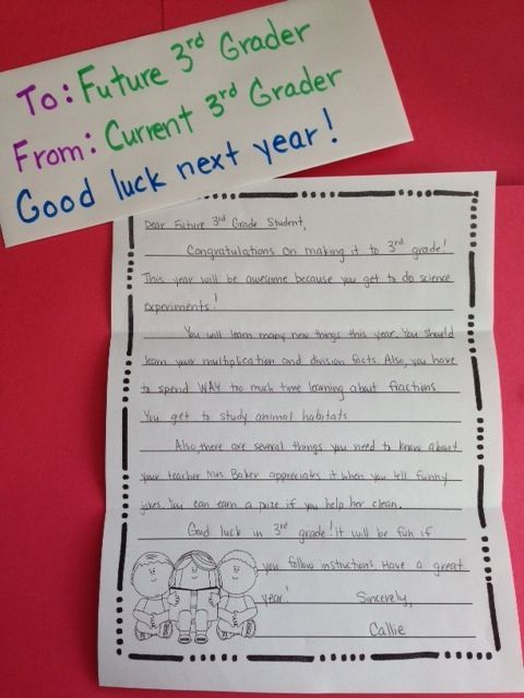 End of Year Activity: Letter to Future Students! Have students write a letter giving advice to next year's student! Brainstorming, rough draft, editing page, final draft page, and grading rubric included! $