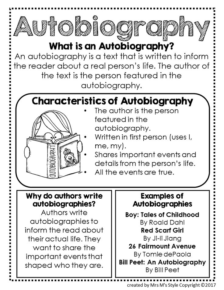 reading autobiography Our biographies on famous and historical figures will enhance your lessons and students will enjoy studying them included are reading warm-ups, poems, discussion.