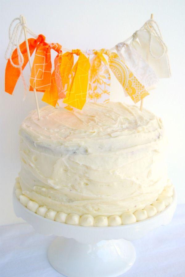 ribbon cake bunting/the proper pinwheel