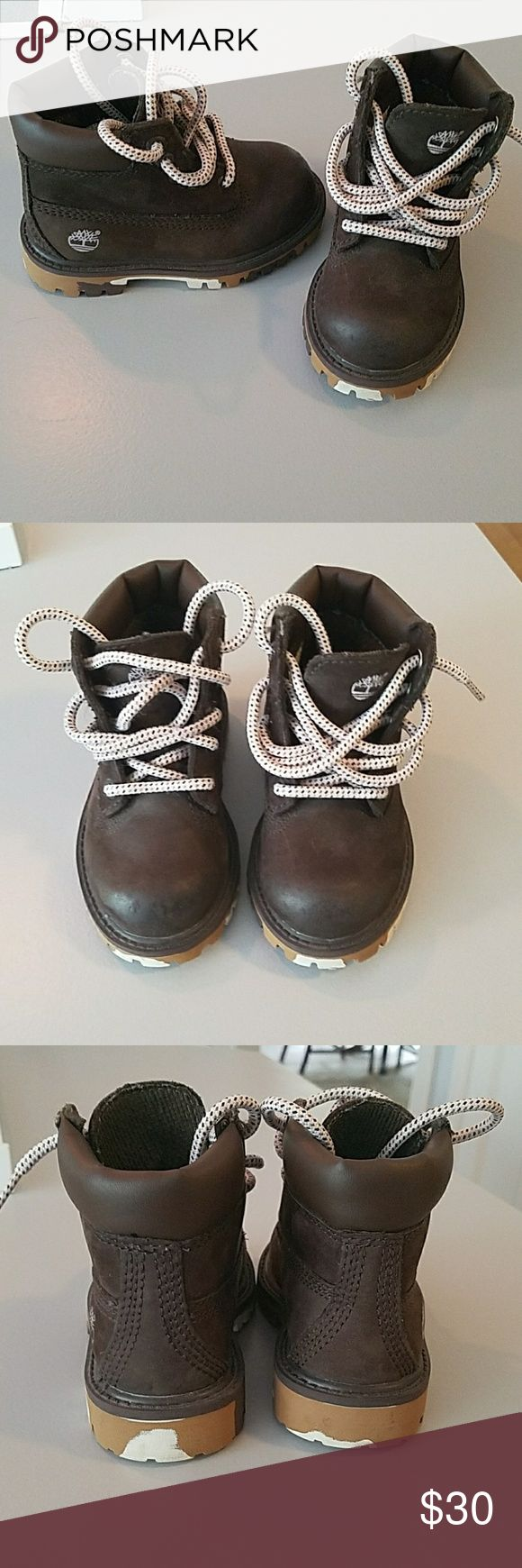 Toddler timberland boots Dark brown toddler 6c boots in excellent condition Timberland Shoes Boots