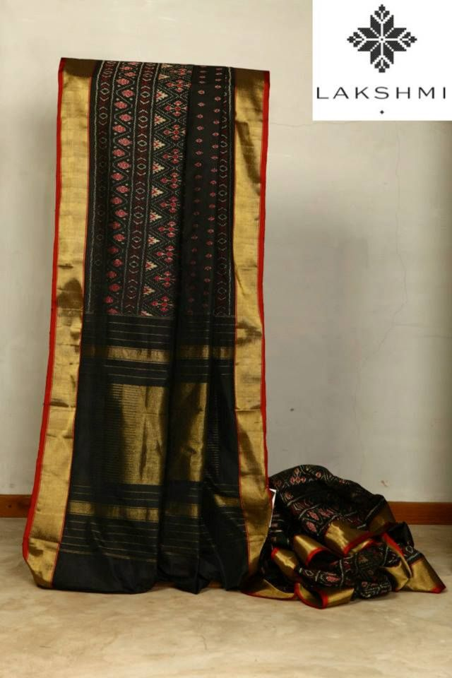 Soft-Silk-Sari-which-is-complemented-by-a-beautiful #ikat-design