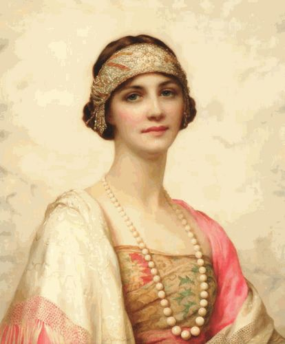 """Elegant Beauty"" by William Clarke Wontner, 1910s"