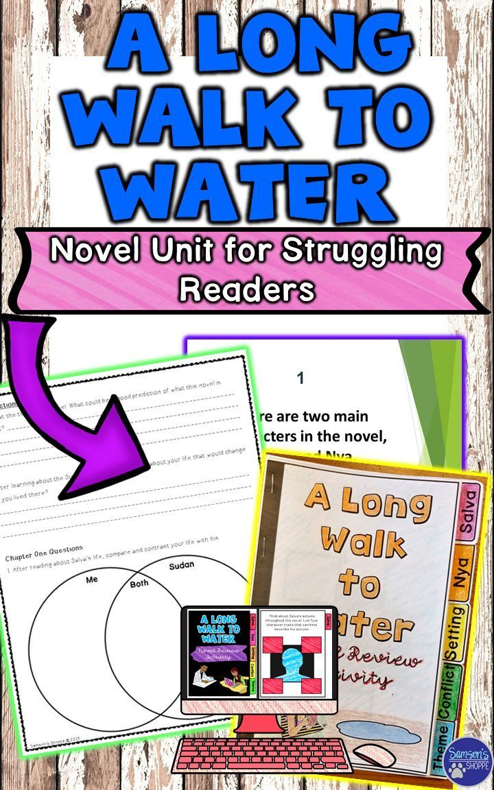 This resource is a unit literature plan and guided reading comprehension packet for the novel, A Long Walk to Water by Linda Sue Park. This is perfect for lower level or struggling readers. It includes pre-reading activities, a guided reading comprehension packet, review game, after reading activities, assessments complete with graphic organizers, rubrics and answer keys so that your students will know everything about Salva and Nya's experience in the Southern Sudan.