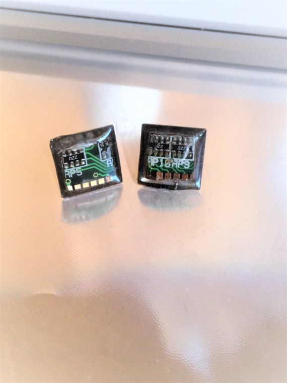 Circuit Board Stud Earrings, Eco-friendly Jewelry, Green Eco Gifts, Modern Jewelry, Techie Geek Gift, Geek Chic, Computer Geek Gifts