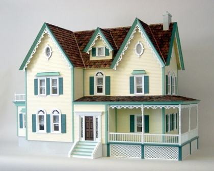 58 best antique doll houses images on pinterest doll for Victorian style kit homes